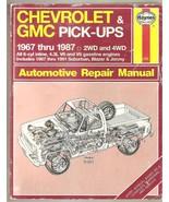 CHEVROLET & GMC Automotive Repair Manual 1967-87 - $12.95