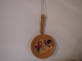 Chicken Rooster Wooden Snack Bowl - $14.00