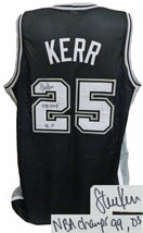 Steve Kerr signed Black Custom Stitched Basketball Jersey NBA Champs 99,... - $158.95