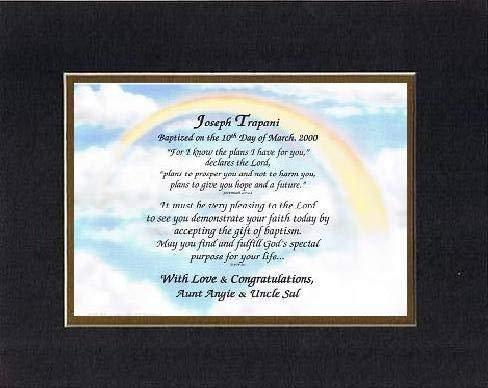 Personalized Touching and Heartfelt Poem for Baptism - I Know I Have A Plan I Ha - $22.72