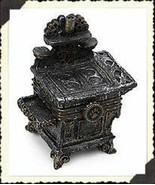 """Boyds Treasure Box """"Aunt Becky's Cast Iron Stove w/ Biscuit"""" #392130-New... - $24.99"""