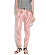 NWOT ZARA Striped Studded Skinny Jeans color Re... - $45.00