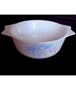 VINTAGE PYREX ENGLAND BLUE IRIS CASSEROLE DISH ... - $14.99