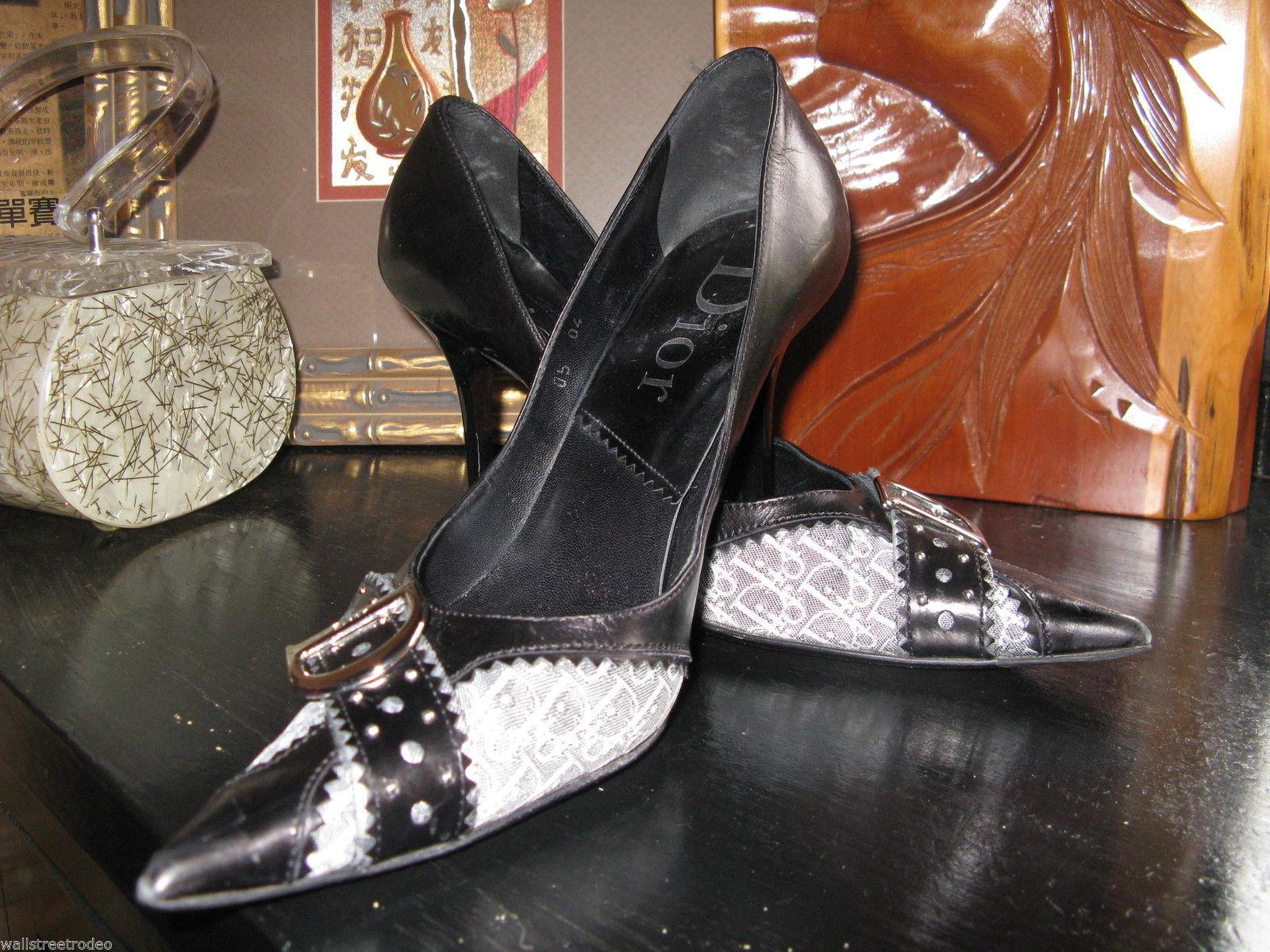 Dior D'Trick Pussycat Dolls logo stiletto runway pumps heels shoes 8 38 UK5.5 - $325.97