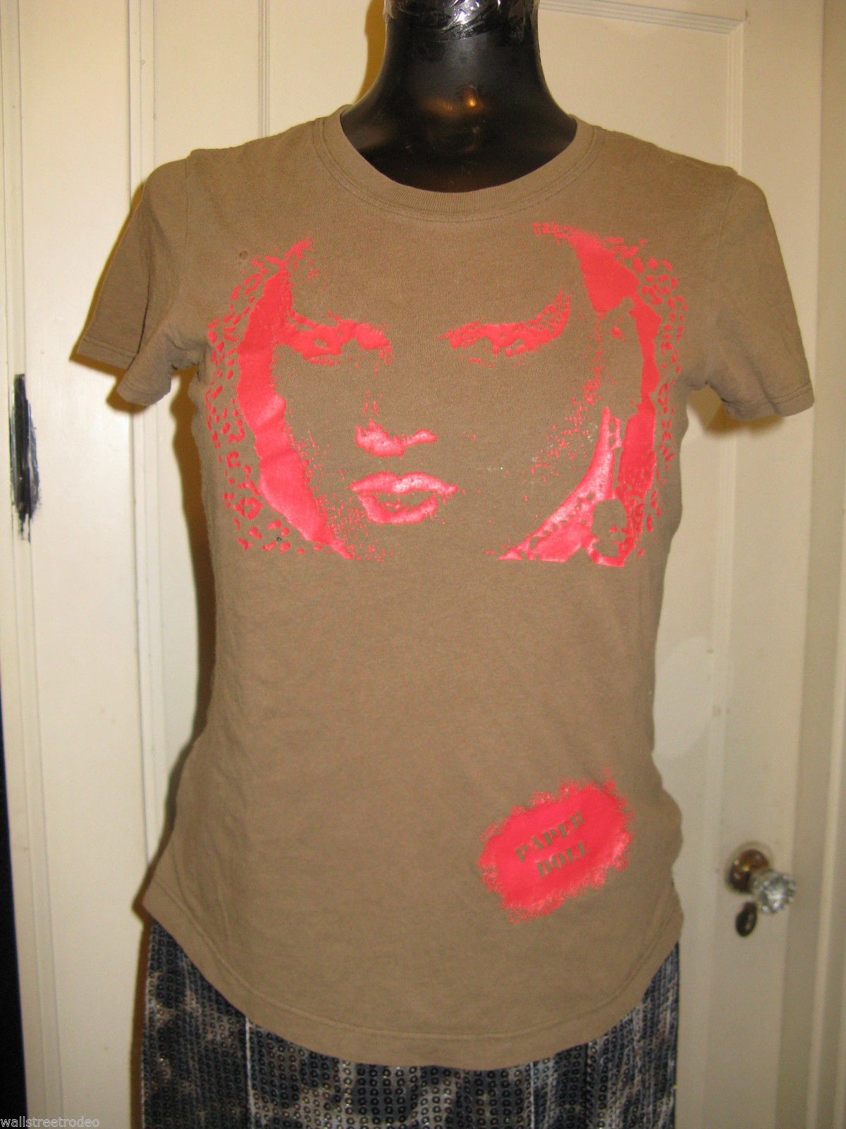 Primary image for Sue Catwoman Paper Doll Productions well worn punk rock t-shirt top Small S