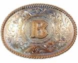 Montana Silversmiths Initial Belt Buckle Letter B Silver