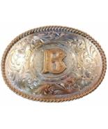Montana Silversmiths Initial Belt Buckle Letter B Silver  - $24.99