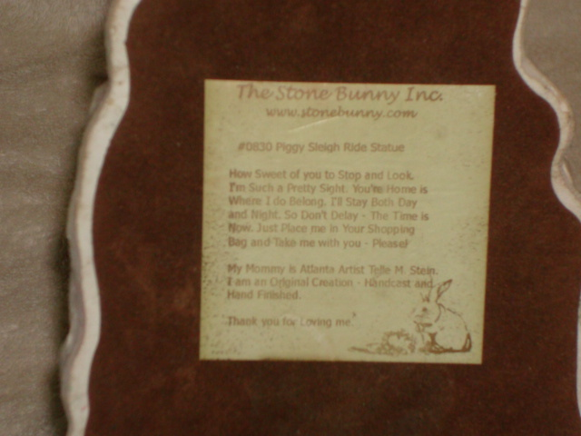 #0830 Piggy Sleigh Ride Statue image 5