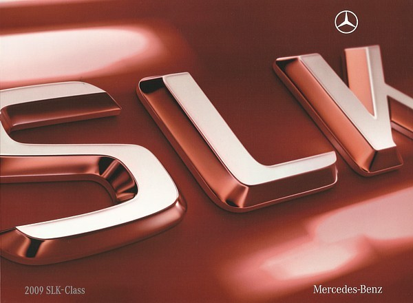 2009 Mercedes-Benz SLK brochure catalog US 300 350 SLK55 AMG