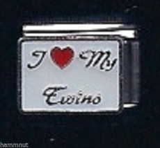 I Heart My Twins  #11  Wholesale Italian Charm 9 Mm - $7.16