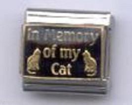 In Memory Of My Cat  Wholesale Italian Charm 9 Mm - $7.16