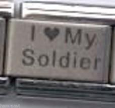 I Love My Soldier  Wholesale Italian Charm 9 Mm - $7.16