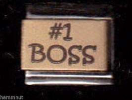 #1 Boss   Gold Plated Center Italian Charm  #Gk14 - $7.16