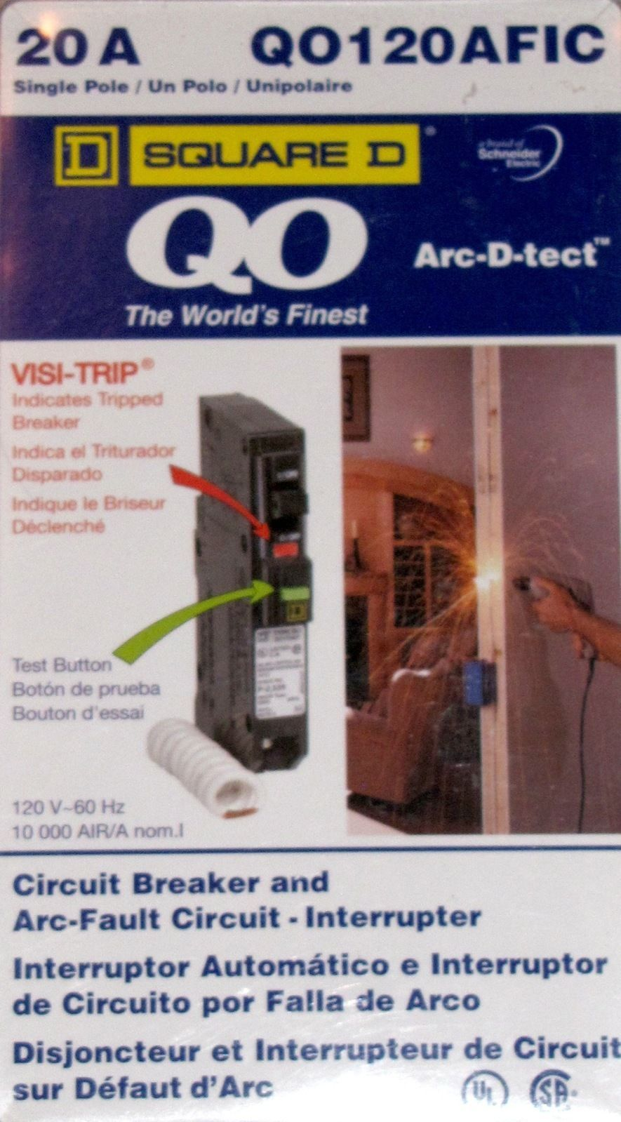 Square D Arc Tect Qo120afic 20a Fault And 50 Similar Items Circuit Breaker In Addition Interrupter