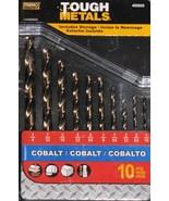 MIBRO Tough Metals Cobalt 10 pc Drill Bits Set - $16.95