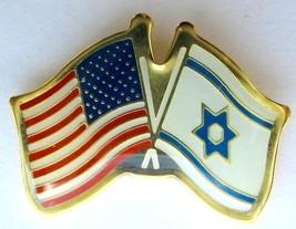 Israel army IDF Israel U.S.A coordination unit pin flag - $8.70