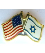 Israel army IDF Israel U.S.A coordination unit pin flag - $8.70