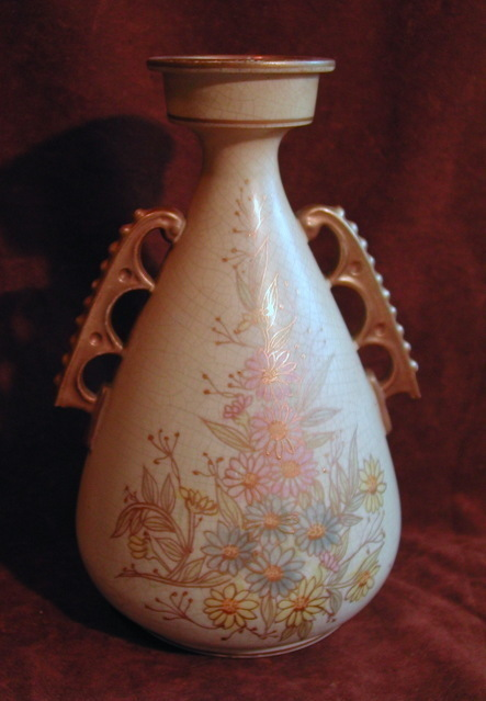 English Chelsea Royal Burslem Pottery H & G Gilt Vase