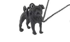 Dog Paws Black Pug Pendant Necklaces - $14.39