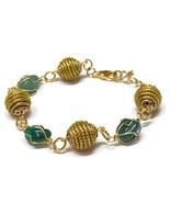 Wire wrapped stones bracelet, Golden Grass Bracelet, Stone Bracelet, Cag... - $25.60