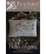 Hello Spring cross stitch chart Plum Street Samplers  - $10.80