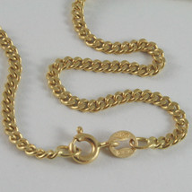 SOLID 18K YELLOW GOLD CHAIN MASSIVE GOURMETTE LINK, FLAT NECKLACE, MADE IN ITALY image 2