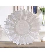 """15.7"""" Floral Design White Decorative Plate Glass - $39.59"""