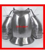 BREASTPLATE STEEL ARMOR Shoulder Guards CHEST PLATE Muscle Body Costume ... - $146.99