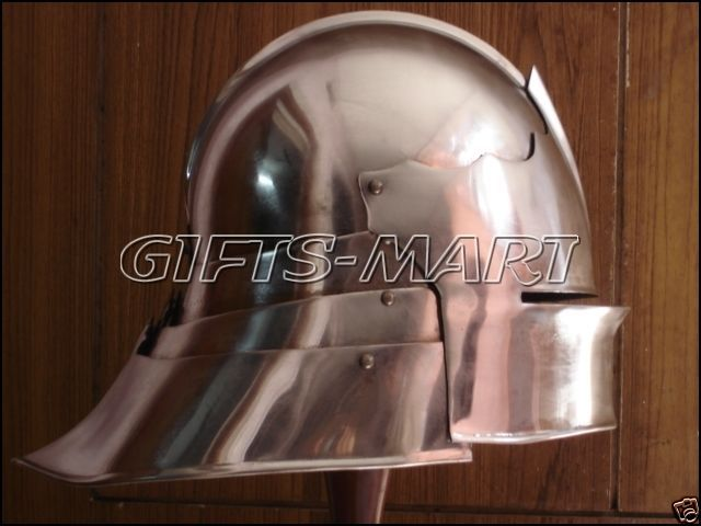 Medieval German Sallet Helmet  European Closehelm Collectible Sca Armor Costume