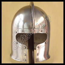 Medieval Barbuta Helmet Ancient Re-enactment Armor Barbute Helm, Colleci... - $64.67