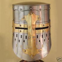 Medieval Knights Helmet, Templar Helmet, Crusader Helmet Role-Play Armou... - $62.72