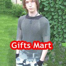 Full Sleeves Aluminium Butted Chain Mail Shirt Anodized Aluminum Chainmail Armor - $131.32
