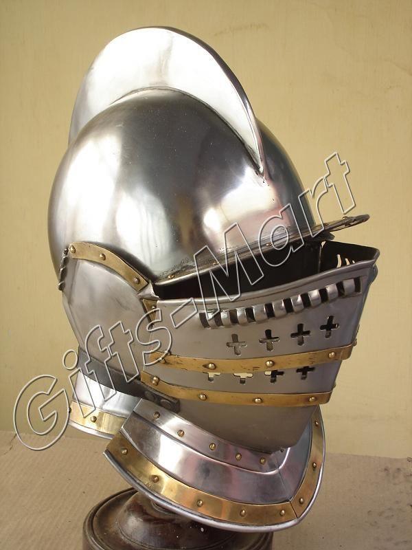 Medieval Burgonet Helmet, Ancient Helmet, European Closed Helmet, Close Helm