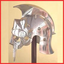 Maximus Decimus Meridius Gladiator Helmet w/ Iron Spikes Roman Armour Costume - $61.25