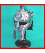 MINI GLADIATOR MAXIMUS ARMOR HELMET SPANIARD MOVIE DECORATIVE DECIMUS ME... - $29.10