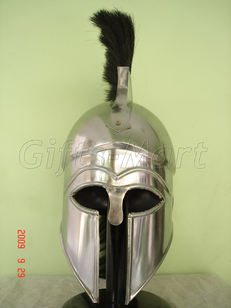 Medieval Greek CORINTHIAN HELMET Reenactment Collectible theatrical dress