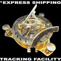 Brass SUNDIAL COMPASS - Pirate Nautical Antique SUN DIAL NAVIGATION Inst... - $19.11