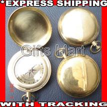 2x Brass Compass Push Button Direction Compass Pirate POCKET COMPASS Mar... - $34.29