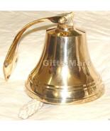 "5"" SHIP BELL - Polished Finish - BRASS DINNER BELLS Office School Bell D... - $34.30"