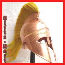greek corinthian helmet w/ Plum medieval roman spartan role-play costume... - $50.96