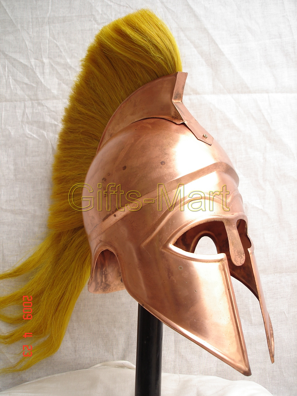 greek corinthian helmet w/ Plum medieval roman spartan role-play costume armour
