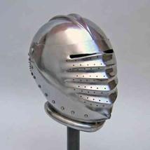 Armor Helmet German Steel Jousters Maximilian Helmet Role-Play Theatre C... - $81.83