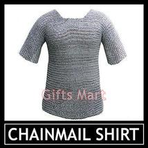 Medieval Chainmail Shirt RIVETED Aluminium Chain Mail Aluminum L Size Haubergeon - $92.12