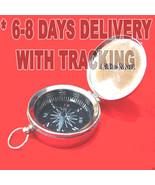 Wholesale LOT 30 Pcs Brass COMPASS w/Lid Nautical Pirate Silver Keychain... - $122.49