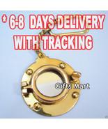Brass Porthole Mirror Key Chain Nautical Marine Port Hole Keychain Keyri... - $36.25