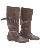 Fancy Riding Boot Shoes MEDIEVAL LEATHER LONG ARMOR BEAUTIFUL BOOTS FOR MEN - $107.79