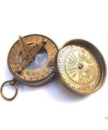 Brass Sundial Compass Antique Nautical Pocket Compass - Wholesale Lot of... - $240.09