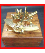 """6"""" BRASS SEXTANT with Wood Box Collectible, Colletable NAUTICAL Hobby Gi... - $57.82"""