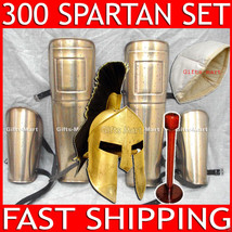 300 SPARTAN HELMET WITH STAND & LINER + 300 SPARTAN LEG GUARD & HAND GUA... - $293.99