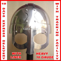 16 Gauge Viking Gjermundbu Helmet Combat Ready Sca Raider Norse +leather liner - $142.09